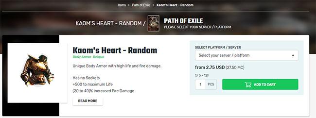 Buy Kaom's Heart