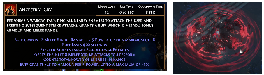 Ancestral Cry Builds