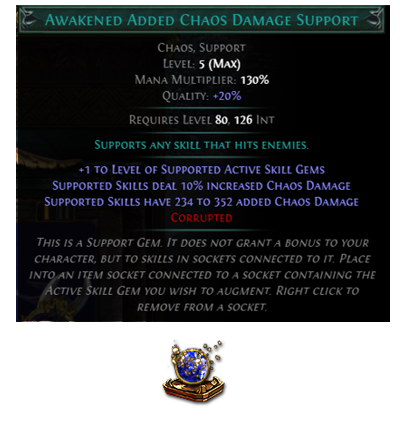 Awakened Added Chaos Damage Support