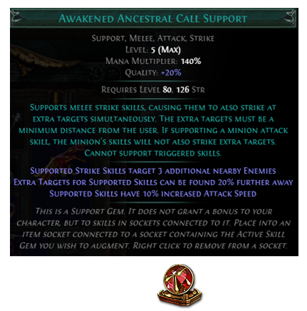 Awakened Ancestral Call Support