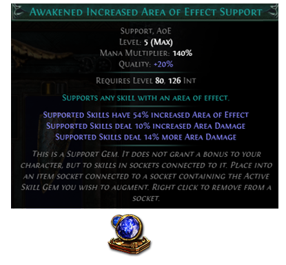 Awakened Increased Area Of Effect Support