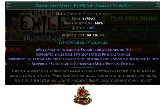Awakened Melee Physical Damage Support