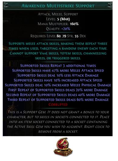 Awakened Multistrike Support
