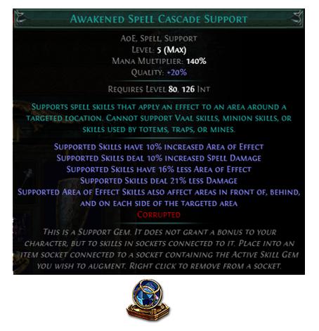 Awakened Spell Cascade Support
