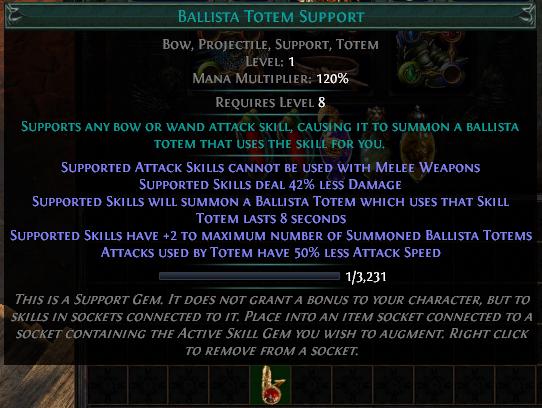 Ballista Totem Support