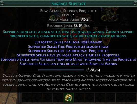 Poe Barrage Support Gem Poe 3.9 new support gems: poe currency