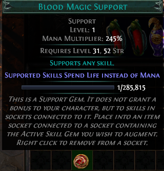 Blood Magic Support