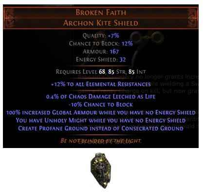 Broken Faith PoE