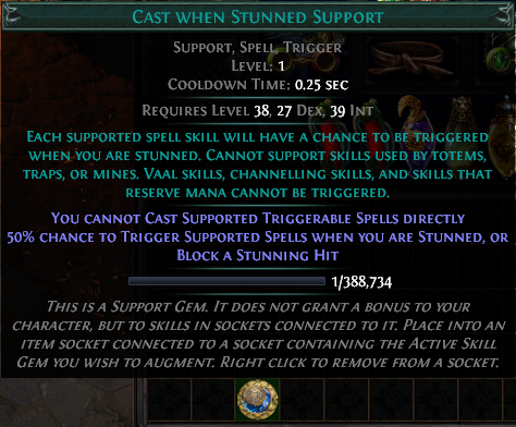 Cast when Stunned Support
