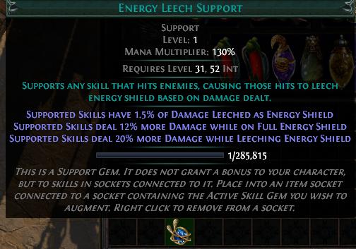Energy Leech Support