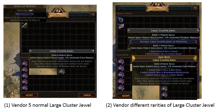 Faild Cluster Jewel Recipe