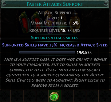Faster Attacks Support