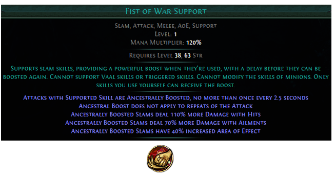 PoE Fist of War