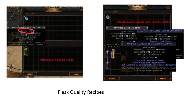 PoE Quality Flask Vendor Recipe