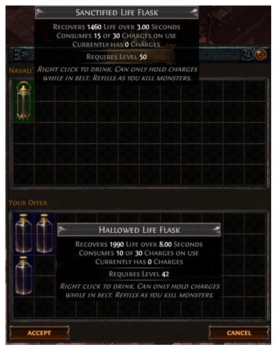 Hallowed Life Flask Recipe