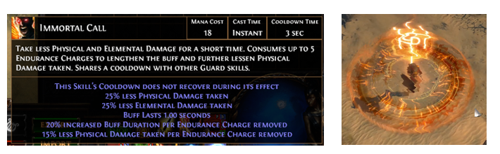 Immortal Call Poe Setup Support Gems Links Cast when damage taken support. poe currency
