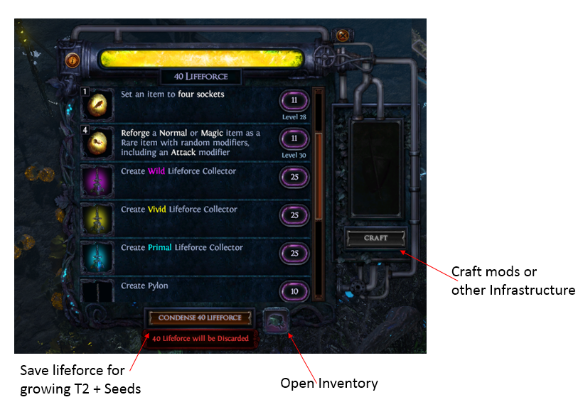 Lifeforce Collector Crafting
