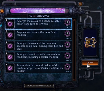 Lifeforce Crafting