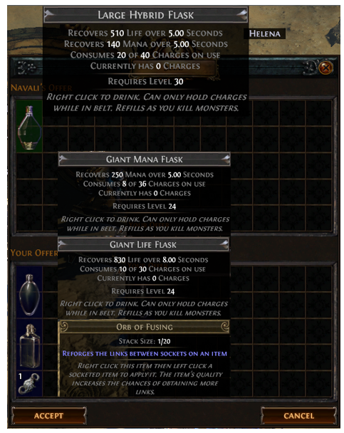 Obtain Large Hybrid Flask recipe