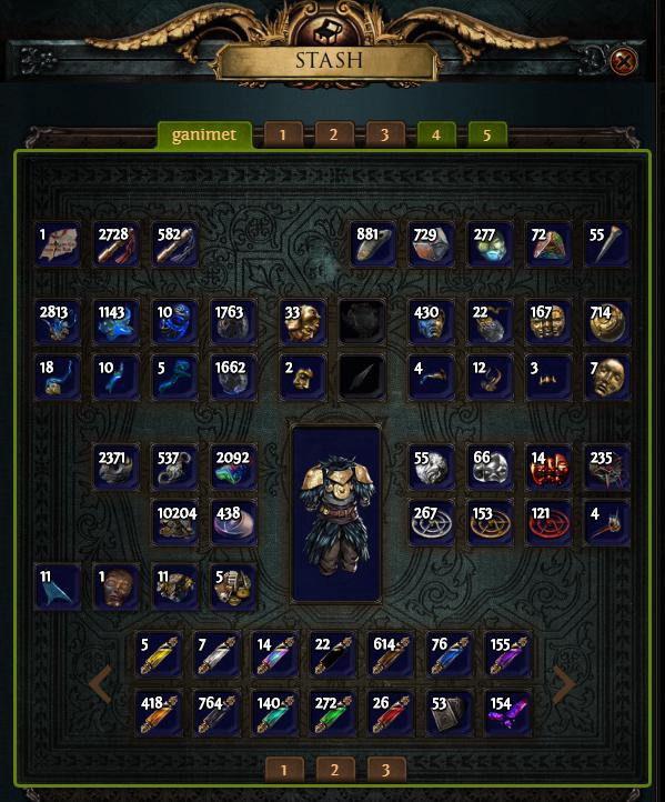 PoE Currency Stash Tab