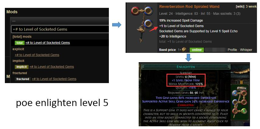 Poe Enlighten Support Leveling Level 5 Gem Location Level 4 Gem Farm Corrupted Skills supported by unleash have +1 to maximum number of seals. poe currency