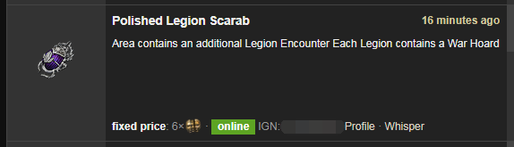 Polished Legion Scarab