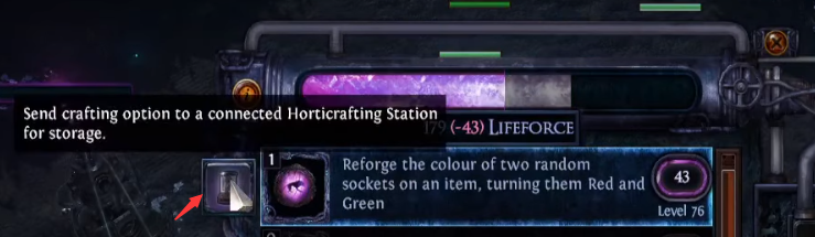 Store crafting option
