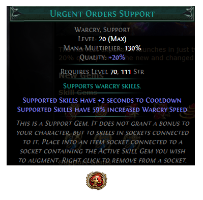 Urgent Orders Support