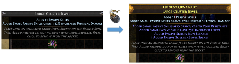 Use Orb of Alchemy to craft a clusterjewel