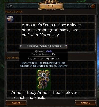 Armourer's Scrap Recipe