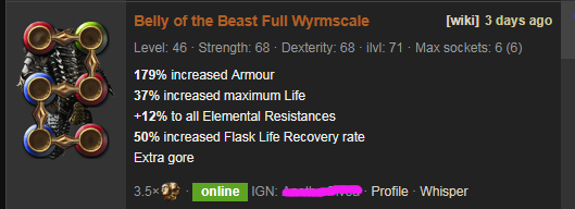 PoE Belly of the Beast Price