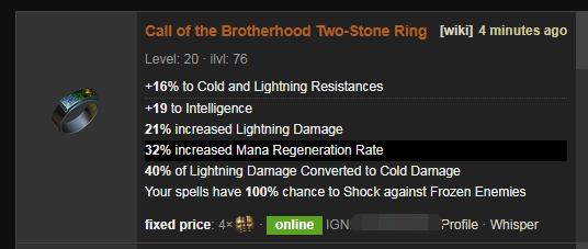 Poe Call Of The Brotherhood