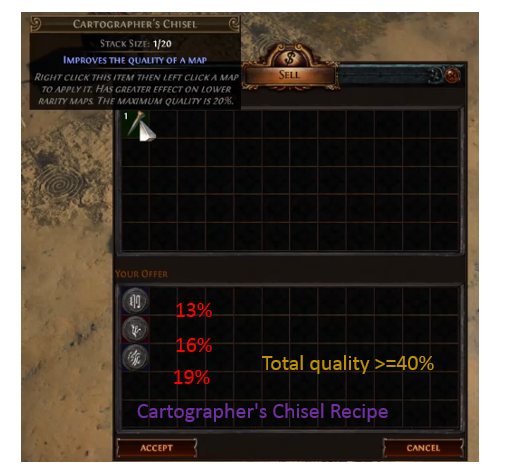 Cartographer's Chisel 40% Quality Recipe