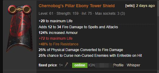 Chernobog's Pillar Price