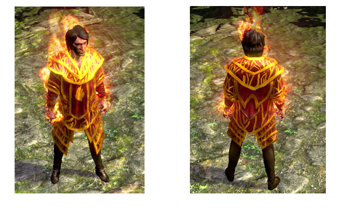 Cloak of Flame 3D Art