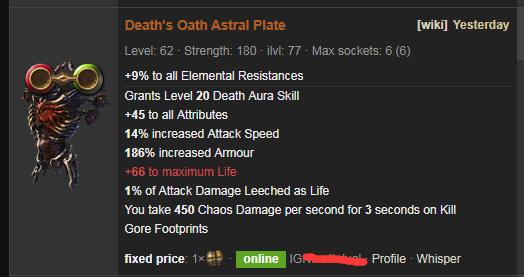 Death's Oath Price