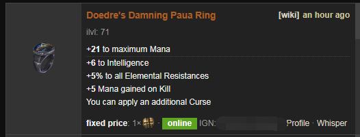 Doedre's Damning Price