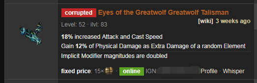 Eyes of the Greatwolf Price