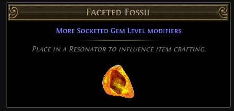 Faceted Fossil Crafting & Drop Location - PoE