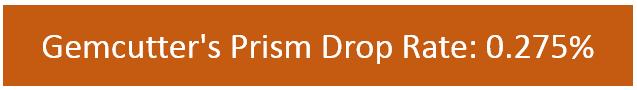 Gemcutter's Prism drop rate