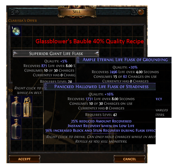 Glassblower's Bauble 40% Quality Recipe