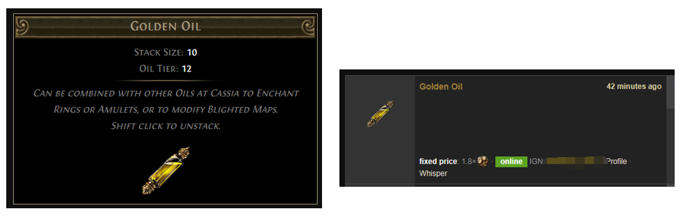Golden Oil Price