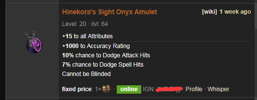 Hinekora's Sight Price