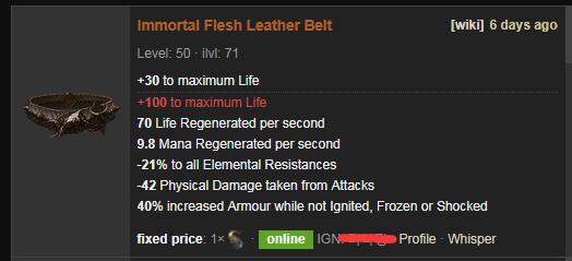 Immortal Flesh Price