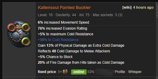 Kaltensoul Price