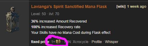 PoE Lavianga's Spirit Price