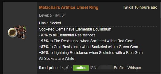 Malachai's Artifice Price