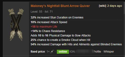 Maloney's Nightfall Price