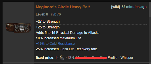 Meginord's Girdle Price