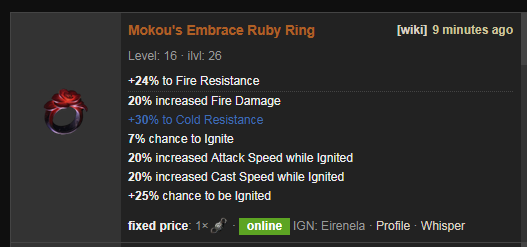 Mokou's Embrace Price